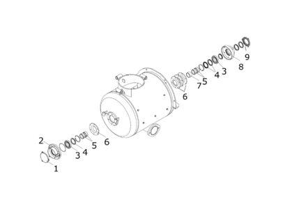 Zestaw naprawczy wału mieszalnika Putzmeister M743 Brinkmann DC450 oryginał