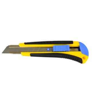 Nóż z ostrzem wymiennym 18mm uchwyt gumowy