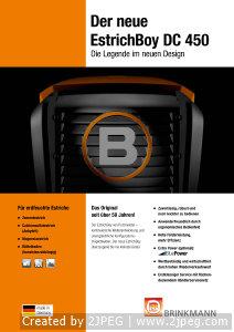 Brinkmann Estrich Boy DC450 ulotka informacyjna DE-1