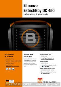 Brinkmann Estrich Boy DC450 ulotka informacyjna ES-1